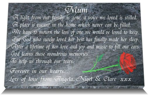 Mothers Grave Marker Ornaments with memorable inscriptions for 2020