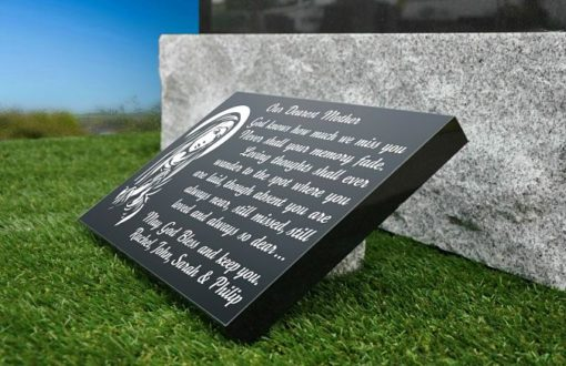 Mom Memorial Plaque with Funeral poem
