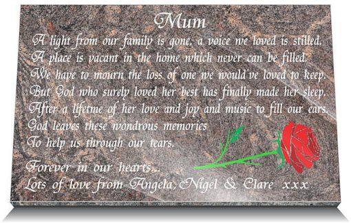 Mother grave marker