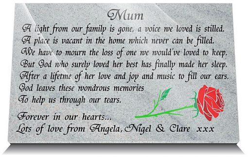 Mother Rose memorial marker