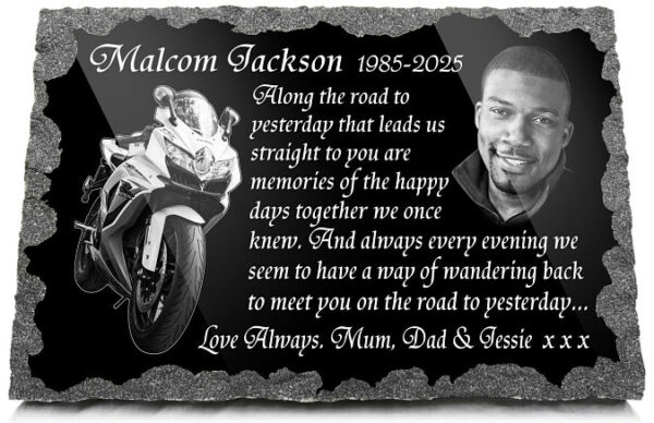 Motorbike memorial gifts for Dad or Husband