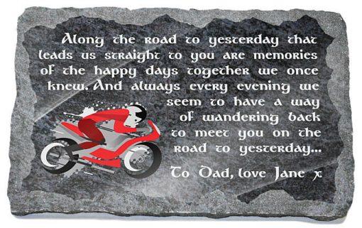 motorbike memorial plaques