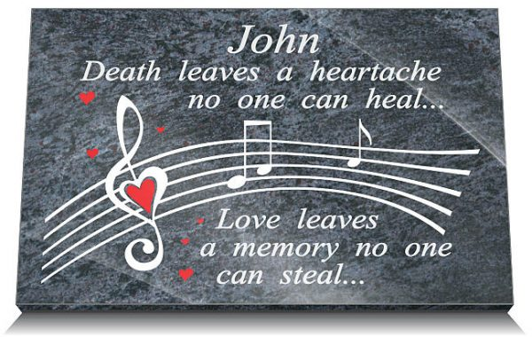 Music memorial plaques friends