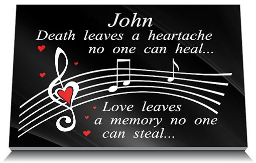 Music memorial plaques for friends