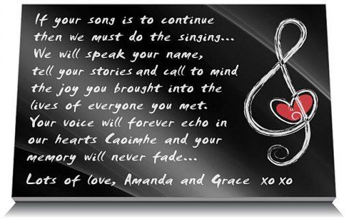 Music memorial quotes