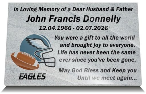American NFL Grave Markers and Memorial Plaques for Cemetery Graves