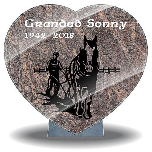 Grandad remembrance plaque for grave