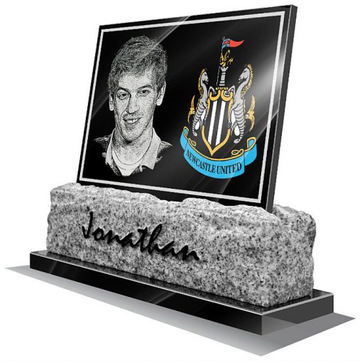 Newcastle United FC Memorial plaque for grave