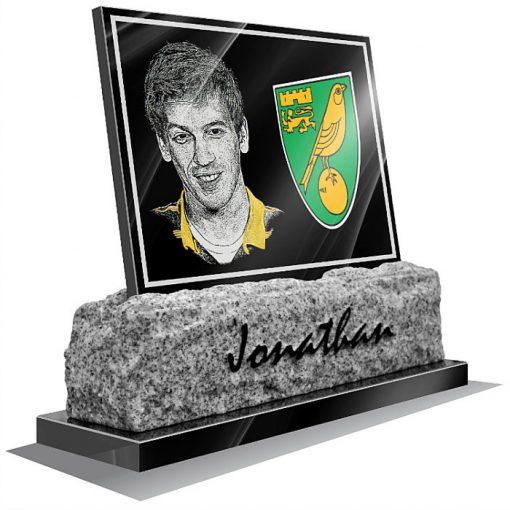 Norwich FC Memorial plaque for grave