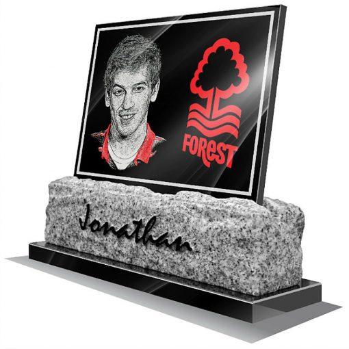 Nottingham Forest FC Memorial plaque for grave
