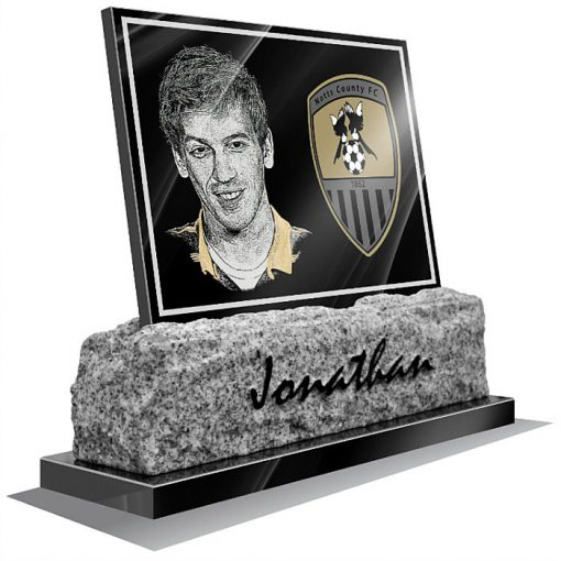 Notts County FC Memorial plaque for grave