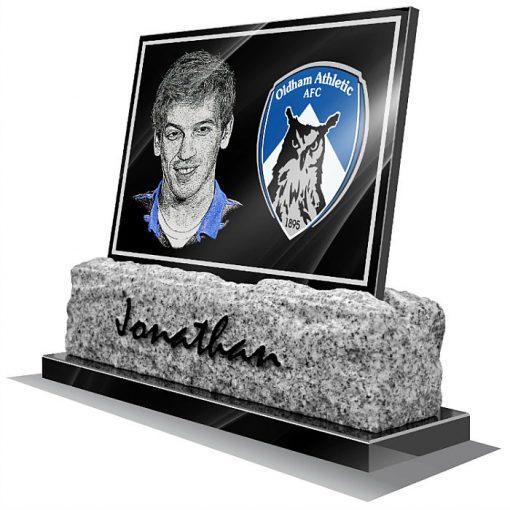 Oldham Athletic AFC Memorial plaque for grave