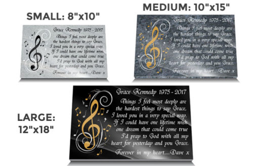 Personalized wife memorial ornament for graveside