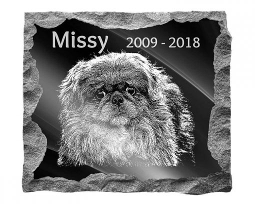 Pekingese Dog Memorial plaque