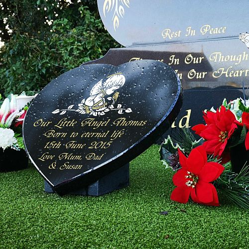Personalized baby memorial gifts for headstones made for outdoor use with lifetime guarantee