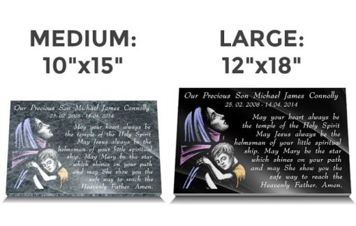 Catholic Remembrance Gifts with Our Lady and Memorial poem