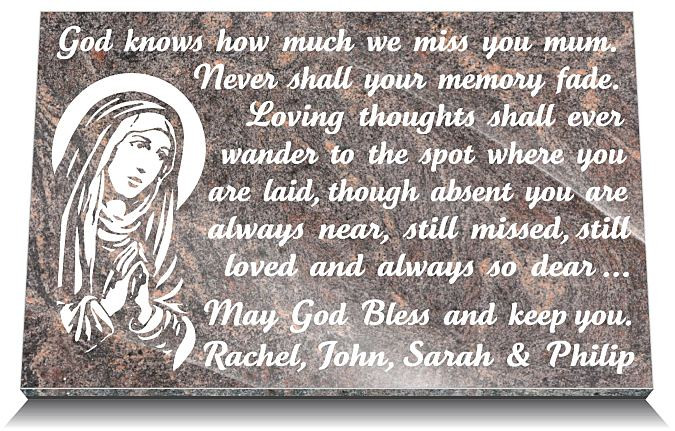 Catholic Grave Markers Mothers Memorial Graveside Plaques Religious