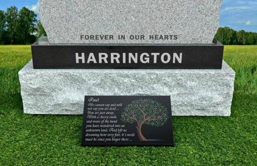 Granite Grave Plaques for headstones with customized friend memorial poem