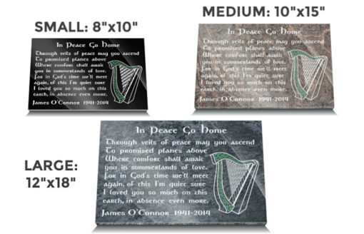 Celtic Grave Ornaments for Graves with Celtic Harp