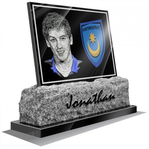 Portsmouth FC Memorial plaque fpr grave