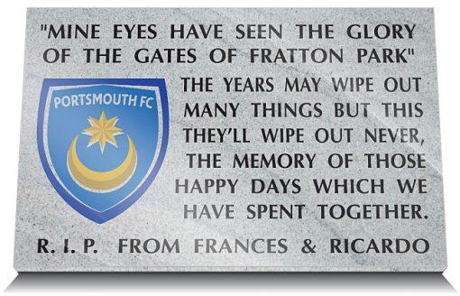 Portsmouth FC Memorial plaques