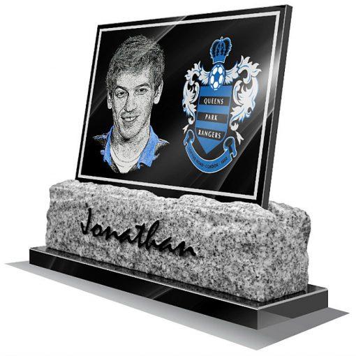 Queens Park Rangers FC Memorial plaque for grave