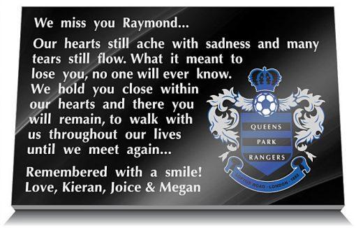 Queens Park Rangers Football Club Memorial Plaque