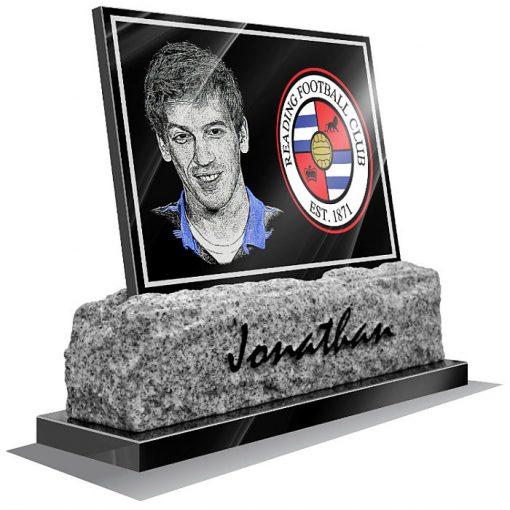 Reading FC Memorial plaque for grave