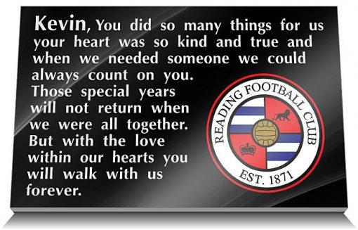 Reading Football Club Memorial Tablet