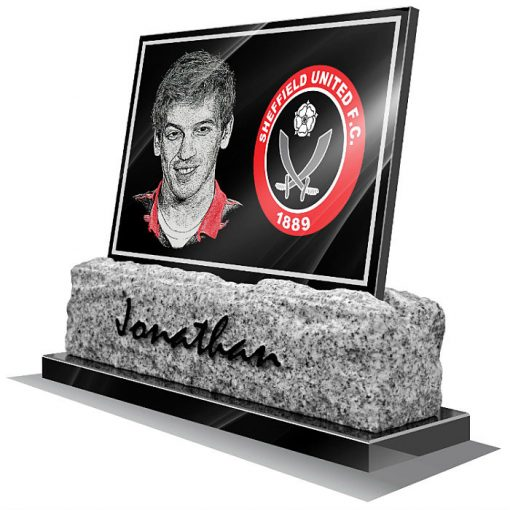 Sheffield United FC Memorial plaque for grave