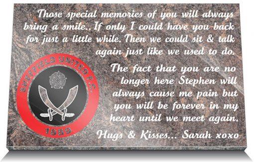 Sheffield United FC Memorial Plaque
