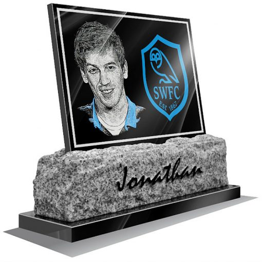 Sheffield Wednesday FC Memorial plaque for grave