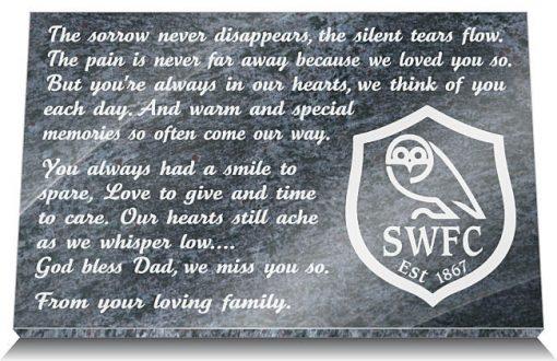 Sheffield Wednesday FC Grave Marker