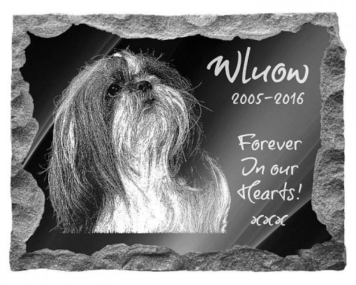 Shih Tzu Dog Memorial plaque