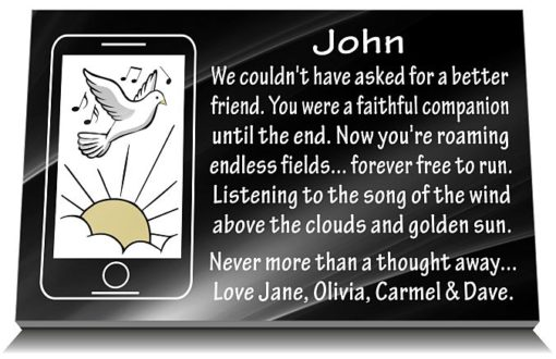 Friend Memorial Plaques with Friend Funeral Poems