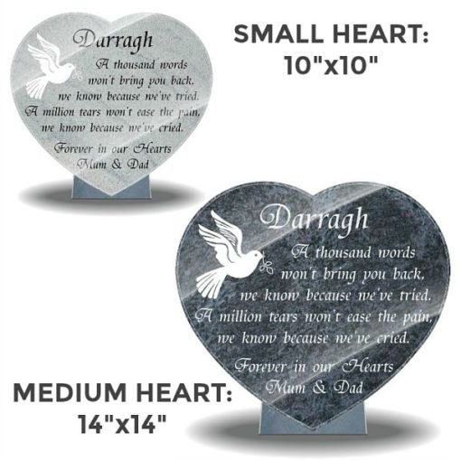 Grave ornaments for loss of son