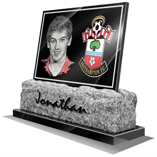 Southampton FC Memorial plaque for grave