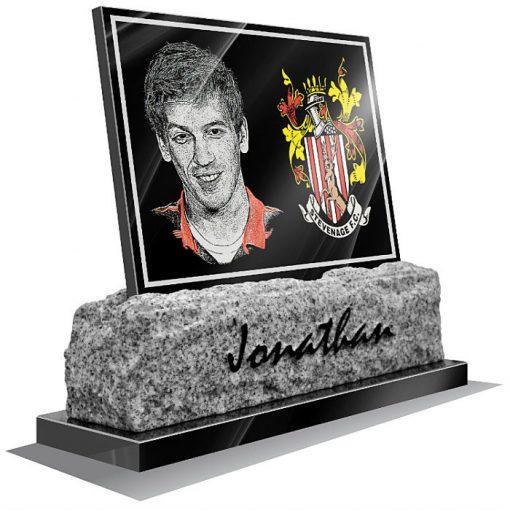 Stevenage FC Memorial plaque for grave