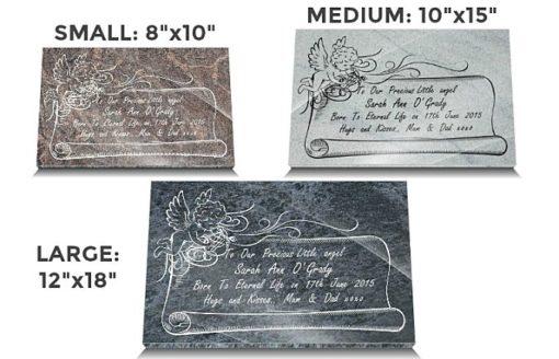 Stillborn Memorial Plaque with Angel and Memorial Poem
