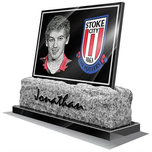 Stoke City FC Memorial plaque for grave
