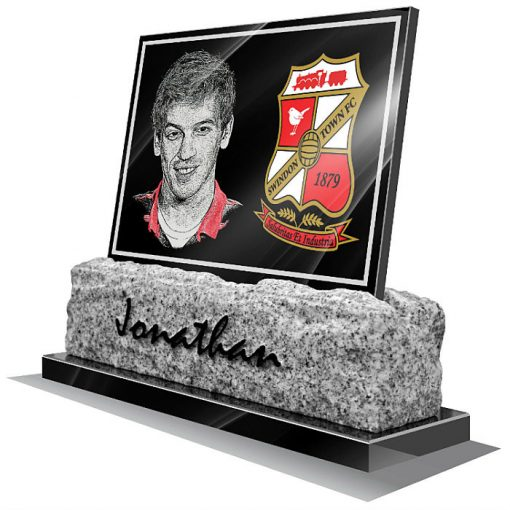 Swindon Town FC Memorial plaque for grave