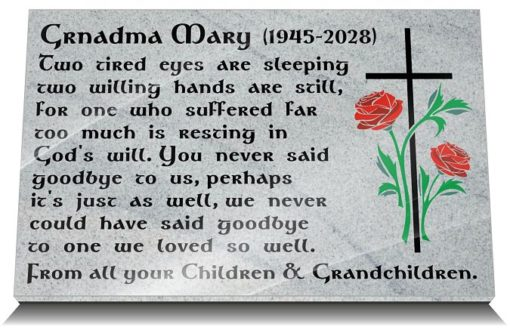 Grandmother Sympathy Messages for Headstones and Memorial Plaques