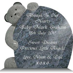 Teddy Bear Memorial Plaque