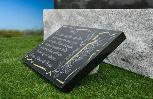 Best grave ornaments to put on Dad's grave with memorial poem and cross image