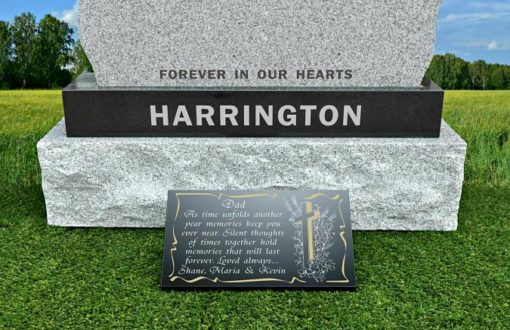 What to put on my Dad's grave? Memorial Plaques with father memorial poems and Christian Cross
