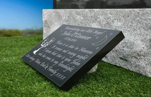 Infant grave markers with Heavenly Angel and baby memorial poem
