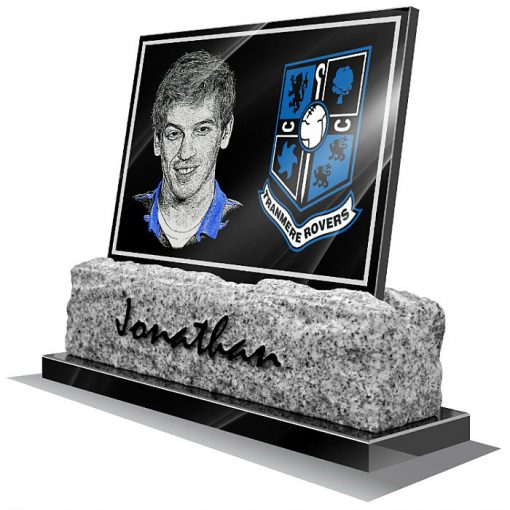 Tranmere Rovers FC Memorial plaque for grave