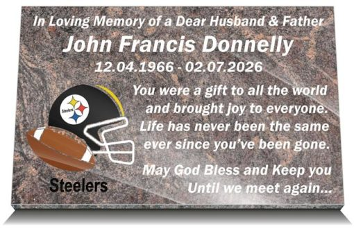 Football NFL Grave Memorials and Headstones for Cemetery Graves in the USA