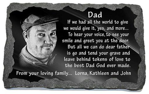 Unique memorial gifts loss father