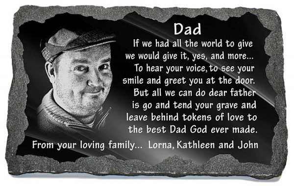 Unique memorial gifts loss father